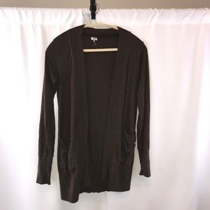 Splendid Brown Cardigan with Pockets - S
